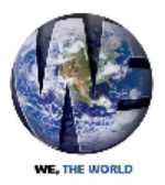 we the world logo 2